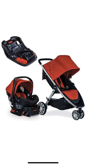 Britax B-Agile Travel System with B-Safe 35 Infant Car Seat - Birth to 55 Pounds, Red for Sale in Riverside, CA