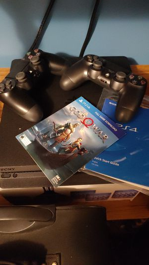 PS4 PLUS 2 CONTROLLERS AND 10 GAMES for Sale in Clarksville, TN