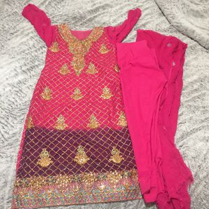 """Pakistani Indian Shalwar Kameez Dress Outfit fancy eid party wedding dress bust size 36"""" length 39"""" for Sale in Silver Spring, MD"""