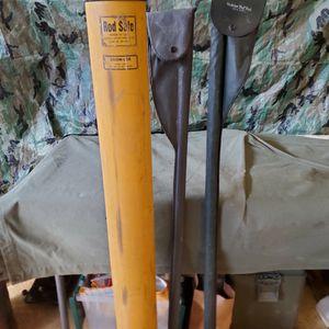 VINTAGE LONG HEDDON DELUXE PAL ROD VINYL FISHING POLE HOLDER for Sale in Nuevo, CA