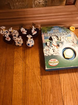 Vintage Mattel 101 Dalmatians See n Say Talking storybook and (7)Heavy Dalmatian Figures McDonald's ?)🤔 for Sale in PA, US