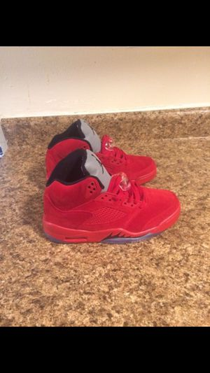 Air Jordan 5 red suede size 8 new never worn for Sale in Bronx, NY