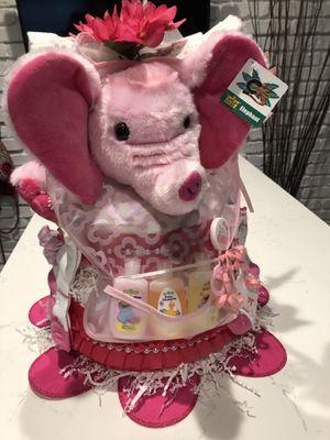Elephant pamper Diaper Cake for Sale in Oakland Park, FL