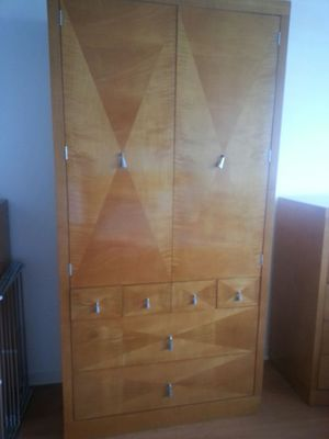 Baker Satinwood tall cabinet on chest drawers for Sale in West Palm Beach, FL