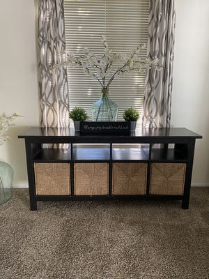 Hemnes Console Table with 4 baskets for Sale in San Diego, CA