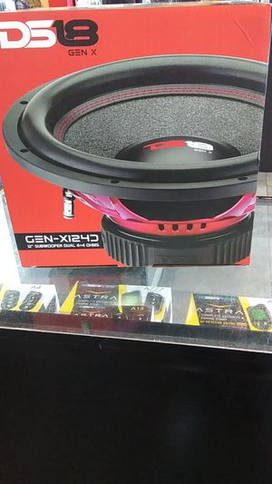 "Ds18 gen x gen-x124 12""subwoofer dual 4+4 ohms for Sale in Fontana, CA"