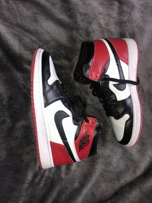 Jordan 1 black toe for Sale in Carrollton, TX
