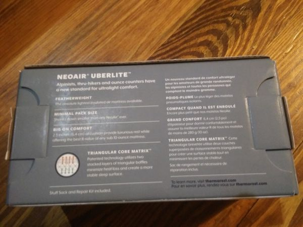 Therm-a-rest Neoair uberlite ultralight air mattress