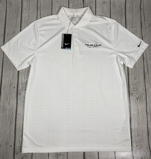 Nike Golf Dri-Fit White Monte Carlo Las Vegas Mens Polo Shirt Sz L $75 for Sale in Las Vegas, NV