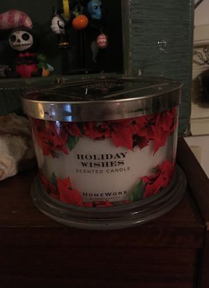 Homeworx by Harry Slatkin Holiday Wishes 3 Wick 18 Oz Candle NEW for Sale in Salt Lake City, UT