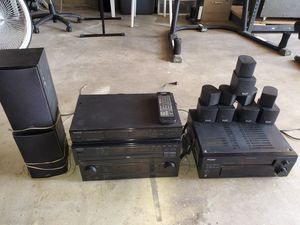 Kenwood Stereo System & Pioneer audio/video system + 265 DVD's for Sale in Santee, CA