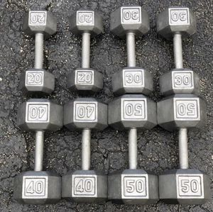 DUMBBELL SET : 20s. 30s. 40s. 50s for Sale in Deerfield Beach, FL