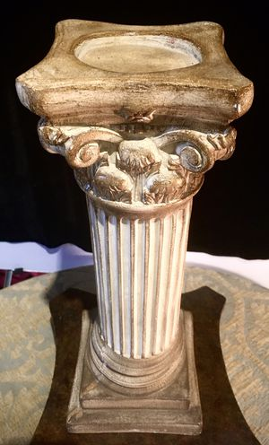 Beautiful decorative ceramic column candle holder H15.5xW6 inch Lbs 4.95 for Sale in Chandler, AZ