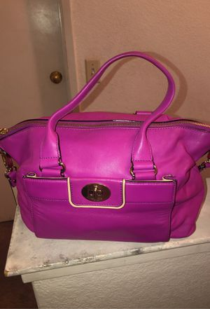 Kate Spade, bright purple, used, with outside pocket for Sale in San Jose, CA
