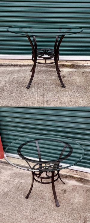 Glass Top Metal Table for Sale in Durham, NC