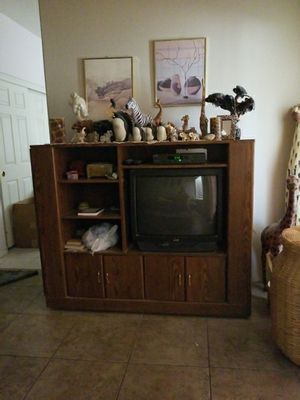 Tv consol with closets shelves and a tv space for Sale in Henderson, NV
