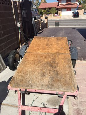 2012 Utility trailer 4' x 8' new tires spare tire sideboard have title and reg 599.00 obo for Sale in Las Vegas, NV