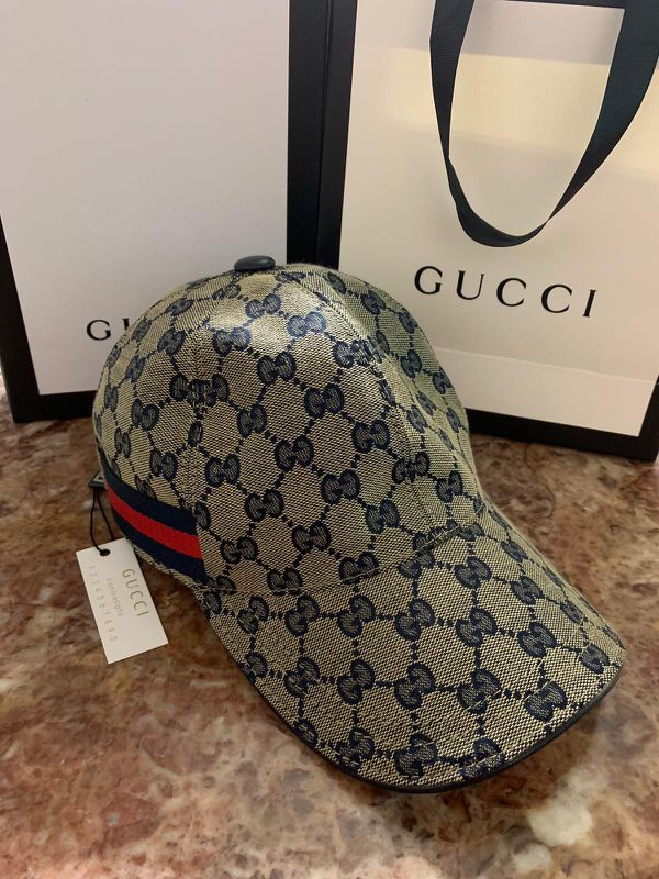 Gg blue monogram hat