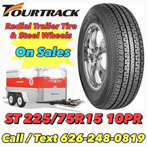 ST225/75R15 10PR Small Radial Trailer Tire & Wheels for Sale in Riverside, CA