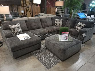 New Sectional Sofa with Ottoman, Smoke, SKU# ASH80703LAFTC for Sale in Norwalk,  CA