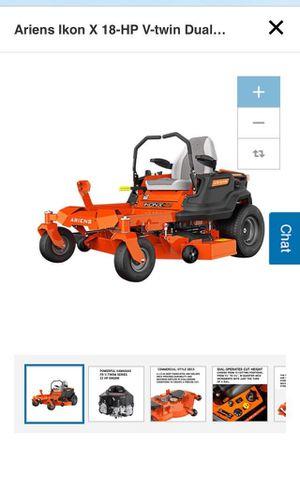 Ariens Ikon X 18-HP V-Twin Dual Hydrostatic 42-In zero turn Riding Lawn mower with Mulching Capability for Sale in Brooklyn, NY