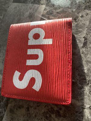 Louis Vuitton x Supreme Slender Wallet Epi Red for Sale in Amarillo, TX