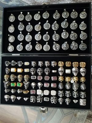 72stainless steel rings+36 steel pendants 316L stainless for Sale in Tampa, FL
