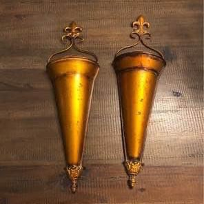 Two Flower Vase Wall Sconces for Sale in Fort Worth, TX