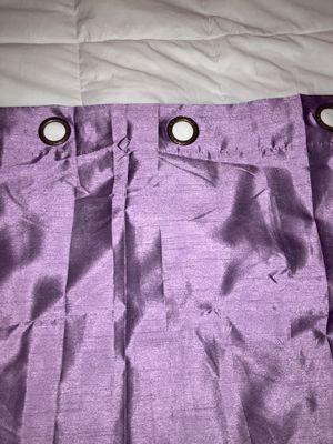 Purple sheen curtain set for Sale in Leesburg, VA