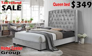 Gray Bed Frame for Sale in Dearborn, MI