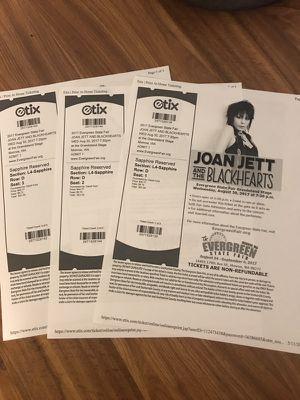 Joan Jett tickets for Sale in Sultan, WA