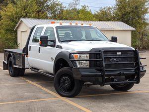 2014 Ford F450 Super Duty Crew Cab DRW Dually 4X4 6.7 L V8 Turbo Diesel Powerstroke Flatbed for Sale in Grand Prairie, TX