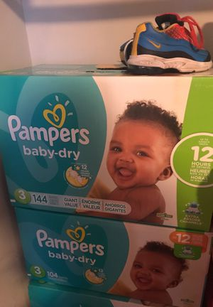 Pampers For Sale !! Will go fast Both Cases 50$$ size 3 for Sale in NEW CARROLLTN, MD