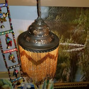 Gorgeous antique brass and crystal Moroccan lamp for Sale in Miami, FL