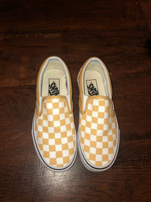 YELLOW CHECKERED VANS for Sale in Monroeville, PA