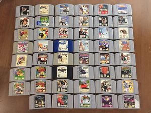 47 N64 Nintendo 64 Games - Mario Kart Party - 007 Golden Eye - Pokémon - Zelda and many more for Sale in Naperville, IL