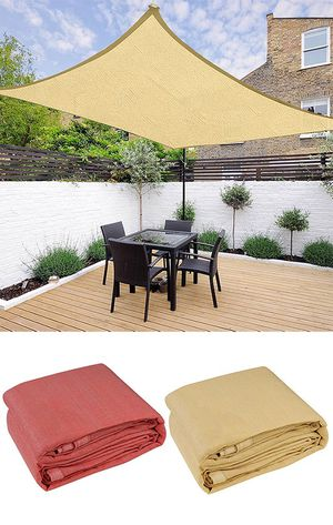 (NEW) $45 each Square 16'x16' Sun Shade Sail Outdoor Canopy Patio Top Cover for Sale in South El Monte, CA