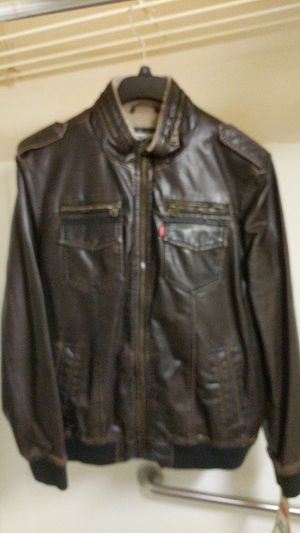 Levi's Men's Faux Leather Aviator Bomber Jacket for Sale in New York, NY