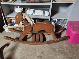 Large wood rocking horse for Sale in Erie, PA