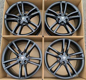 """19"""" Tesla model s split factory wheels rims satin black new for Sale in Tustin, CA"""