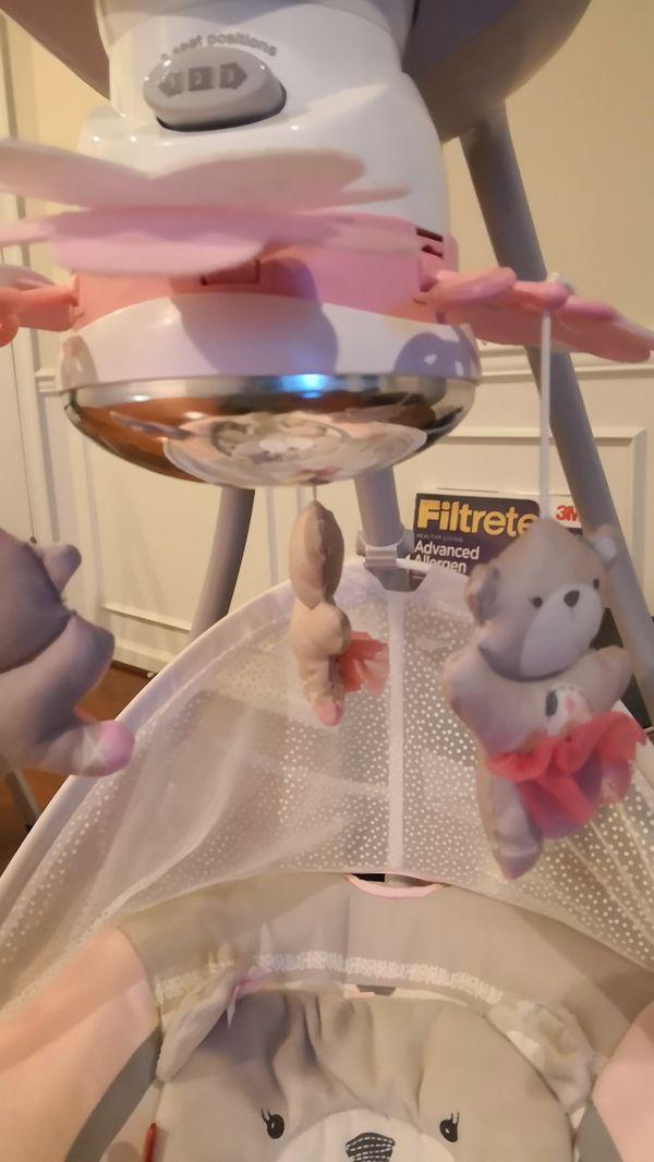 Fischer Price Snugabear Ballerina Cradle N Swing