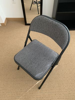 Foldable Grey chair for Sale in Everett, WA