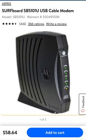 Arris / Motorola surfboard modem for Sale in Troy, MI