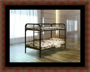 Twin bunk bed frame with mattress for Sale in Laurel, MD