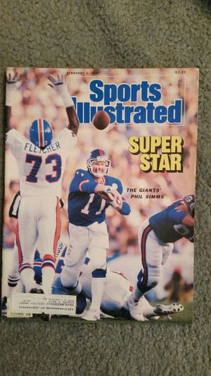 4 GIANTS FOOTBALL SPORTS ILLUSTRATED ISSUES for Sale in Monterey Park, CA