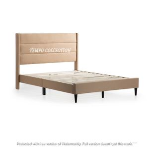 NEW IN THE BOX, MODERN DESIGN,LINEN LIKE FABRIC, QUEEN SIZE BED FRAME. for Sale in Westminster, CA