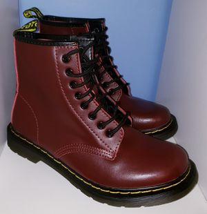 MEN WOMAN combat boots military wine red shoes leather men's 8.5 / woman's 10.5 for Sale in Seminole, FL