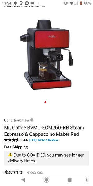 Mr coffee steam Expresso/cappacchino maker for Sale in Clarksburg, WV