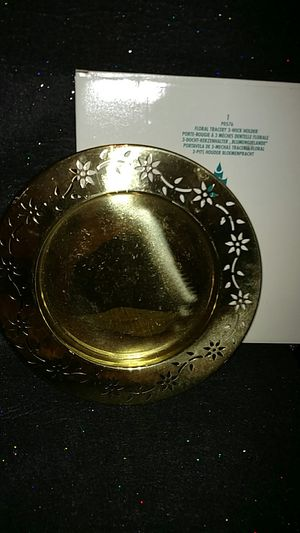 PartyLite Floral Tracery 3 Wick Holder for Sale in Largo, FL