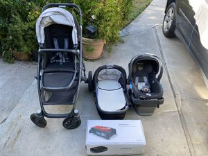 2019 Uppababy vista stroller with bassinet, toddler seat, Mesa Jake car seat, Mesa base and travel bag for Sale in Hawthorne, CA